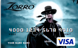 Don't think Zorro would like the fees attached to his name