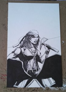 Little Queen's Gambit ink cover
